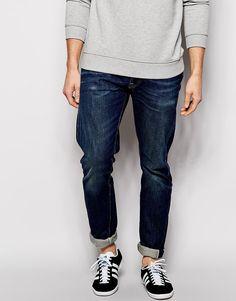 Image 1 ofLevis Vintage 1966 501 Slim Fit Jeans Customised Ground Floor