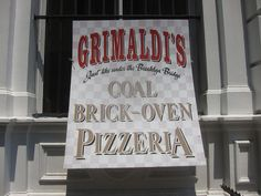 Grimaldi's, Brooklyn, NY. The best pizza I've ever eaten.