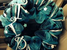 To The Pointe wreath for my daughters' dance studio owner.