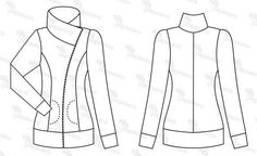 free zip jacket pattern from Polish site papavero. pity they don't have my size...