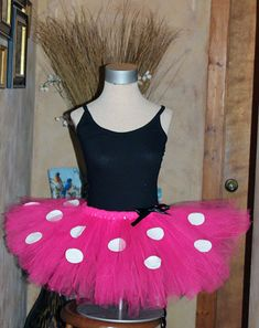 PINK Minnie Mouse Inspired Walt Disney World Disneyland Marathon Running Race Tutu Costume Outfit, STARTING AT JUST $15.00 for adult tutu!! Great bargain for a great tutu skirt for the Disney half marathon Princess dash 10K glass slipper run or other fun run races. Super piece made to fit great. In lengths of runners choice! Check out Handmade & Handpicked Boutique on facebook too at www.facebook.com/handmadehandpickedboutique Great for getting supplies for diy tutu designers