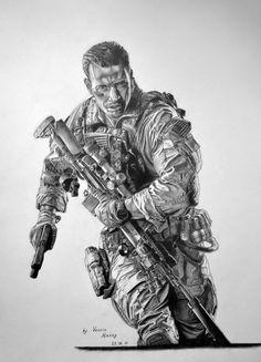 Battlefield 4 pencil drawing by Cool Drawings, Pencil Drawings, Totenkopf Tattoo, Tattoo Artwork, Military Drawings, Battlefield 4, Knight Art, Military Pictures, Military Art