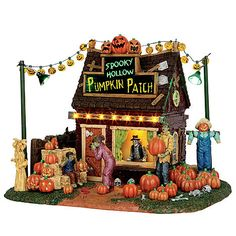 Lemax Spooky Town Collection Halloween Village Accessory Spooky Hollow Pumpkin…