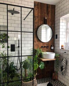 bohemian Bathroom Decor Trendy Bohemian Bathroom D - bathroomdecor Bad Inspiration, Bathroom Inspiration, Bathroom Inspo, Bathroom Interior Design, Interior Decorating, Flat Interior Design, New Bathroom Designs, Scandinavian Interior Design, Scandinavian Furniture