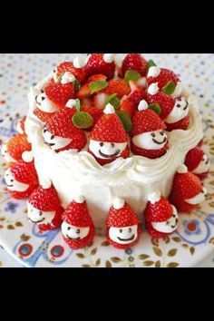 Christmas strawberry Santa idea