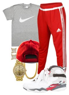 """Lil Uzi Vert- Top"" by crenshaw-m4fia ❤ liked on Polyvore featuring Piaget, adidas, NIKE, men's fashion and menswear"