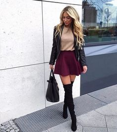 adorable casual fall outfits for girls to look amazing page 14 – nothingideas Winter Fashion Outfits, Casual Fall Outfits, Classy Outfits, Stylish Outfits, Fashion Fashion, Fashion Boots, Fashion Women, High Fashion, Fashion Trends