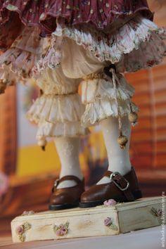 Купить Маленькая Алиса. Кукла авторская . Кукла текстильная авторская. - коричневый, бордовый, девочка, алиса