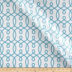 RCA Felicity Sheers Capri Blue from @fabricdotcom  This semi sheer, polyester batiste fabric is perfect for window treatments, swags, curtains and table top. Colors include capri blue and white.