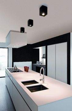 These minimalist kitchen concepts are equivalent components peaceful as well as trendy. Locate the most effective ideas for your minimalist design kitchen that fits your taste. Surf for incredible images of minimalist design kitchen for motivation. Contemporary Bedroom Decor, Contemporary Bathrooms, Contemporary Interior, Modern Interior Design, Kitchen Interior, Kitchen Design, Minimalist Kitchen, Minimalist Design, Lounge Lighting