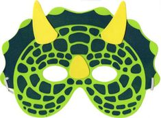 Fantasia de Dinossauro mascara infantil feita de EVA Animal Masks For Kids, Mask For Kids, Dinosaur Crafts Kids, Crafts For Kids, Festa Jurassic Park, Dinosaur Mask, Dinosaur Birthday Party, Ideas Para Fiestas, Happy B Day