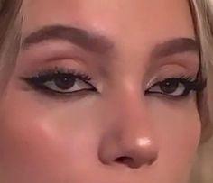 Indie Makeup, Edgy Makeup, Makeup Eye Looks, Eye Makeup Art, Cute Makeup, Pretty Makeup, Simple Makeup, Skin Makeup, Makeup Inspo