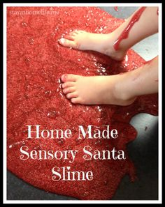 Make Your Own Sensory Santa Slime. THIS PICTURE !!! OMG. Where will you be when your period strikes?