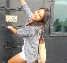 Rebel. haha Me on the USS Midway