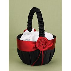 Dramatic Rose Flower Basket | Invitations By Dawn
