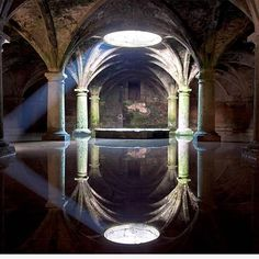 Inside the water tank of the ancient Portuguese fortress town Mazagan, Morocco. by Mandy Schoch.