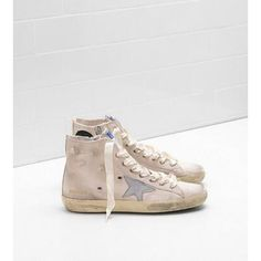 2017 GGDB Francy Dames Golden Goose Sneakers Sale Bruin clair Grijs