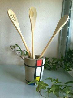 Vaso de concreto Mondrian