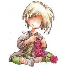 Knitting Quotes, Knitting Humor, Crochet Humor, Knit Art, Crochet Girls, Yarn Bombing, Marianne Design, Cartoon Pics, Whimsical Art