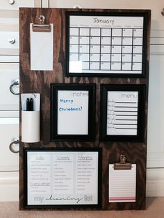 Trendy Home Organization Wall Office Decor Home Organization Wall, Organization Hacks, Organizing Ideas, Memo Boards, Family Command Center, Command Centers, Command Center Kitchen, Family Organizer, Trendy Home