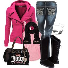 """""""Pink and Juicy"""" by debbie-probst on Polyvore"""