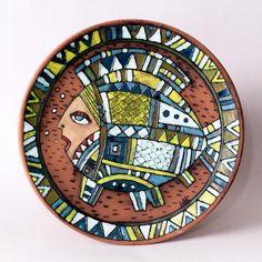 Студия «Корн». Авторская керамика, панно-тарелка «Женщина-рыба»