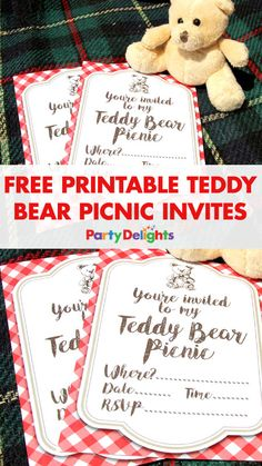 Planning a teddy bear's picnic? keep the cost of your picnic party down with our free printable teddy bear picnic invitations. Download and print them for free and they'll match our picnic party supplies perfectly!