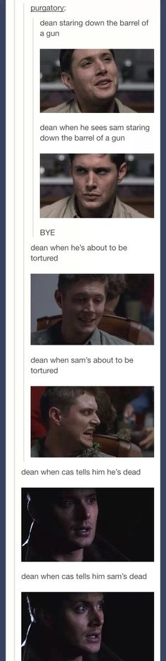 Dean's love for Sam