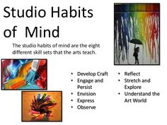 Details the studio habits of mind and examples of how they are applied in the art classroom.