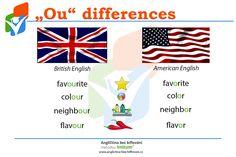 Stačí jedno písmenko a už slovo pochází z jiného kontinentu. Uvědomili jste si vůbec někdy, že existují obě varianty a každá pochází odjinud?  #English #Facts #AmericanEnglish #BritishEnglish #Words #Differences #Vocabulary #Anglictina #AnglictinaBezBiflovani British English, American English, Favorite Color, Playing Cards, Playing Card Games, Game Cards, Playing Card