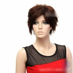 Sogood Modern European and American Style Dark Brown Messy Short Wigs For Women and Ladies by Sogood. $26.99