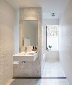 love the open shower; no glass or curtains to clean!