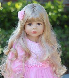 """NWT RARE Masterpiece Dolls Coco Blonde BROWN Eyes By Monika Levenig 39"""" #MasterpieceDolls"""