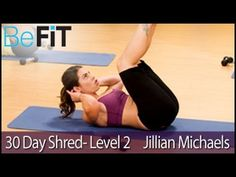 Jillian Michaels: 30 Day Shred Workout- Level 2 - YouTube