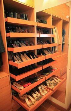 Zapatera ideal para un closet pequeño