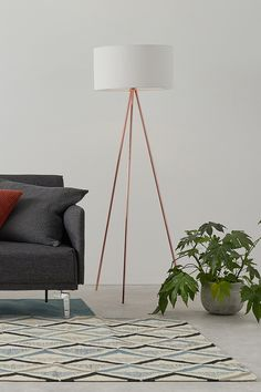 Statement piece plus great value? Frances is a wow-factor floor lamp with a friendly price tag. Stunning in any corner of the room or beside a reading chair. Diy Floor Lamp, Brass Floor Lamp, Rose Gold Floor Lamp, Large Lamps, Retro Lamp, Room Lamp, Contemporary Lamps, Interior Lighting, Lighting Ideas