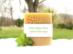 Homemade Fresh Goat's Milk Soap, All Natural Spearmint Green Tea,  4-4.3 oz Cold Process