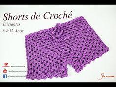 Shorts de Crochê | Iniciantes |6 à 12 anos | Professora Simone - YouTube