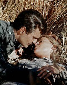 """Omar Sharif and Julie Christie, """"Doctor Zhivago"""", 1965."""