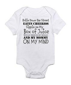 'Mommy on My Mind' Bodysuit - Infant by CafePress on #zulily today!