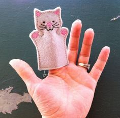 Cat  Pet Set  Animal Felt Finger Puppet by ThatsSewPersonal, $4.00