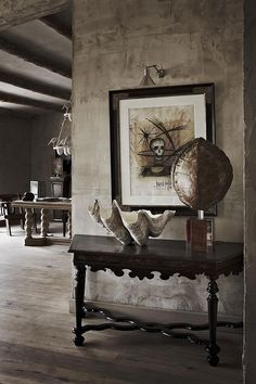 Hard textures together with rustic wooden details. Design and photo by Serge Castella