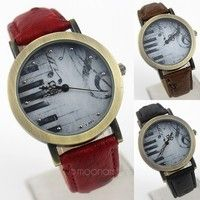 tem Type: Wrist Watch Color: Red, Black, Dark Brown Dial Window Shape: Round Dial Window Material Ty