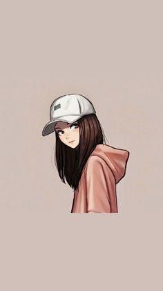 Cute Drawings Of Girls Black And White Kawaii Anime Girl, Cool Anime Girl, Anime Art Girl, Manga Girl, Cute Girl Wallpaper, Cute Disney Wallpaper, Cute Cartoon Wallpapers, Wallpaper Art, Wallpaper Panels