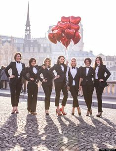 Ladies in tuxes! Bachelorette idea!