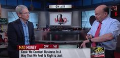 After focusing on Apple's second quarter earnings and the subsequent reaction by Wall Street in the first part of his interview on CNBC's Mad Money, Apple CEO Tim Cook got a little more…