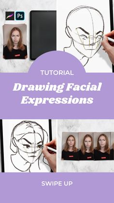 This tutorial is going to change your character game! You'll learn how to add another layer of life behind those eyes! They'll be so realistic it'll probably creep you out! Don't miss out on this tutorial! Ps Tutorials, Drawing Tutorials, Self Empowerment, Learn Art, Facial Expressions, Figure Drawing, Find Art, Hand Lettering, Change