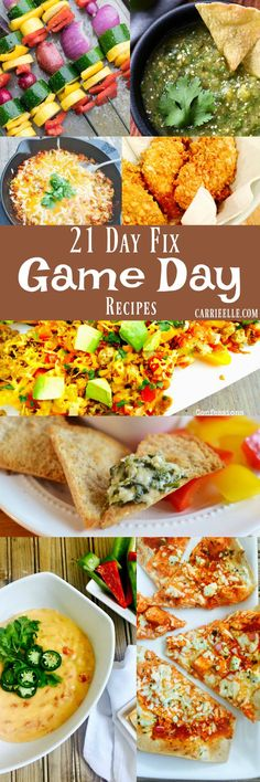 21 Day Fix Game Day Recipes