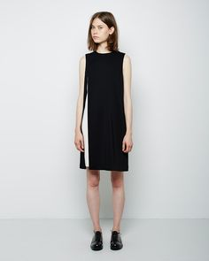 Alexander Wang  Contrast Layered Crepe Dress | La Gar�onne