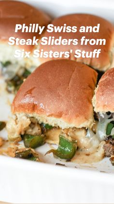 Appetizer Recipes, Dinner Recipes, Appetizers, Dinner Ideas, Lunch Ideas, Meal Ideas, Party Recipes, Food Ideas, Philly Cheese Steak Sliders
